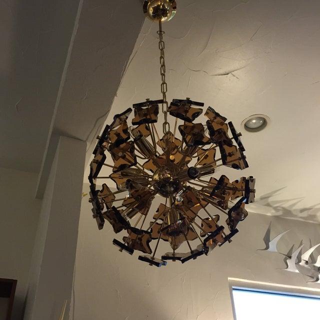 Fontana Arte Sputnik Chandelier Bronze Glass - Image 8 of 8