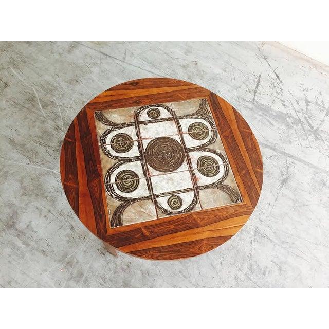 Image of Vintage Danish Rosewood & Tile Top Coffee Table