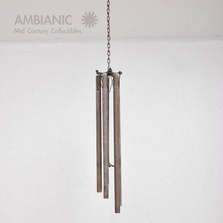 Mid-Century Modern Bronze Wind Chime After Walter Lamb