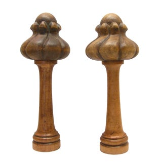 French Wood Architectural Elements -- A Pair