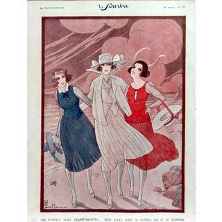 """Le Monnier 1920 """"Three's Company"""" Print"""