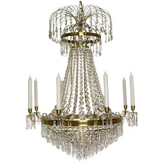 Empire 8 Cognac Drop Chandelier