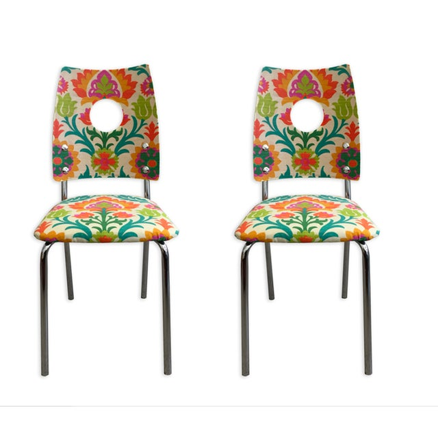 Floral Dining Chairs - Image 1 of 4