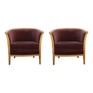 Vintage Bernhardt Club Chairs- A Pair