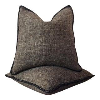 Blanket Stitch Pillows - A Pair