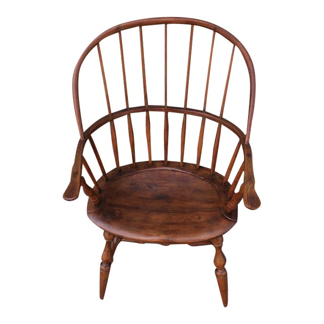 18th Century Sack Back Extended Arm Windsor Chair - Image 1 of 9