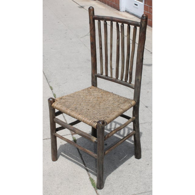 Rustic Hickory Dining Chairs - Set of 4 - Image 3 of 10
