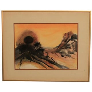 "Watercolor on Paper - ""Desert Sun"" Artwork"