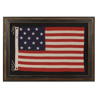 15 Stars and 15 Stripes, A Copy Of The Star Spangled Banner, Antique American Flag