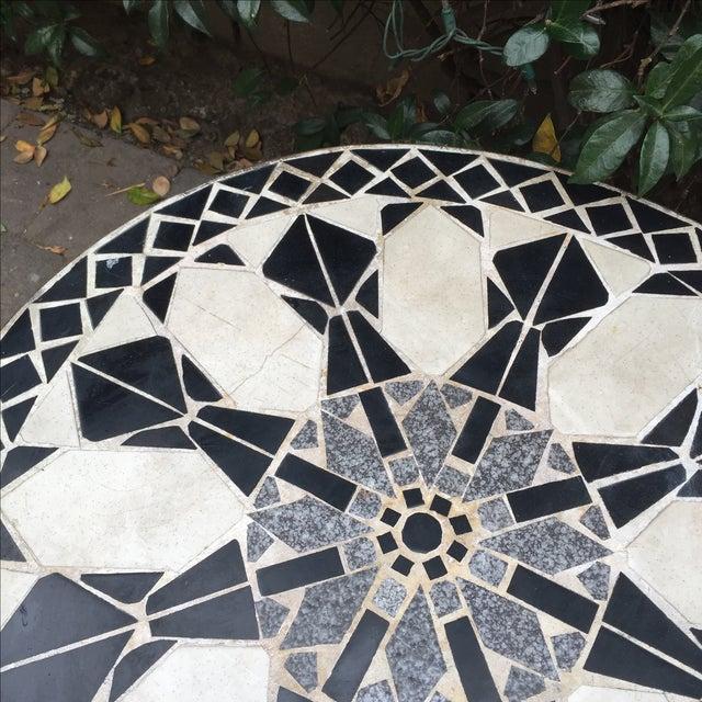 Mid Century Mosaic Tile Sunburst Patio Table Chairish