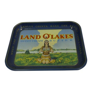 "Vintage ""Land O Lakes"" Serving Tray"