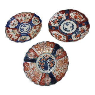 Vintage Asian Style Porcelain Dishes - Set of 3