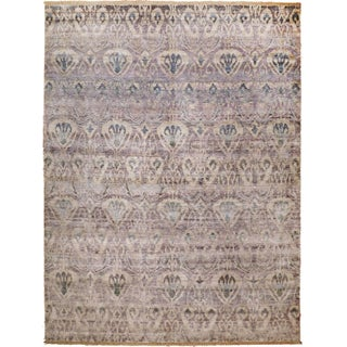 Transitional Ikat Hand-Knotted Luxury Rug - 9' x 12'