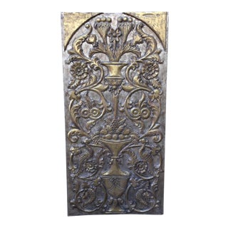 1930s Antique Giltwood Silver & Gold Panel