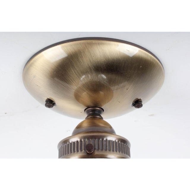 Brass Fluted Ceiling Lamp - Image 4 of 6