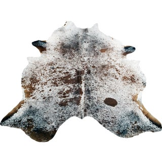 Spotted Brazilian Cow Skin Rug in White