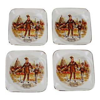 Vintage English Sandland Ware Ashtrays - Set of 4