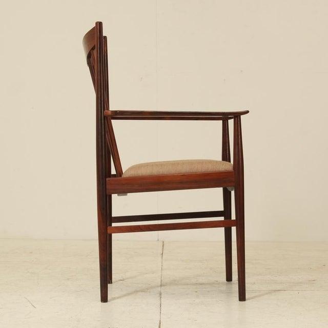 Arne Vodder set of 6 highback armchairs in rosewood, Denmark, 1960s - Image 3 of 7