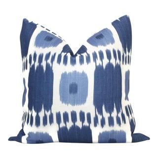 Blue Kandira Ikat Decorative Pillow Cover
