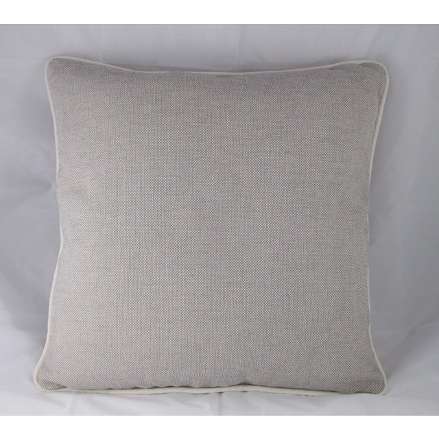 Grey & White Linen Textured Pillow - Image 2 of 4