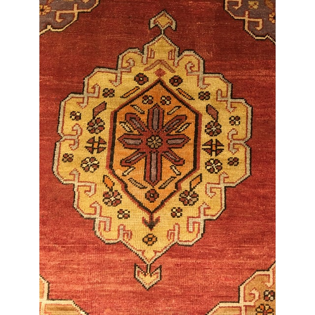 "Bellwether Rugs Vintage Turkish Oushak Runner - 5'8""x9'1"" - Image 6 of 10"