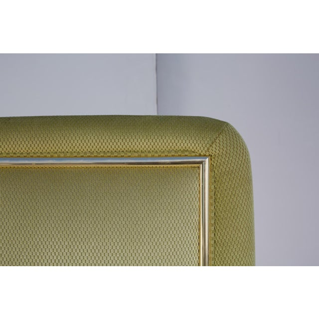 Velvet & Brass Detail Dining Chairs - Set of 8 - Image 9 of 9