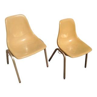 Mid-Century Modern Fiberglass Chairs - A Pair
