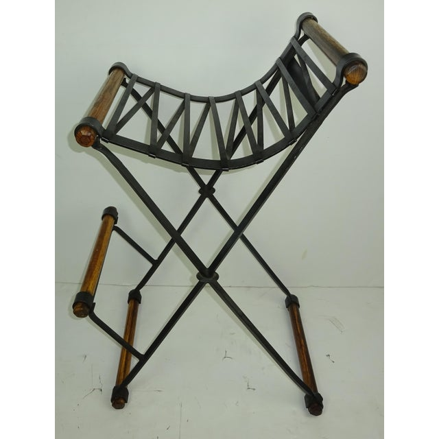 Iron and Oak Bar Stool by Cleo Baldon for Terra - Image 2 of 7