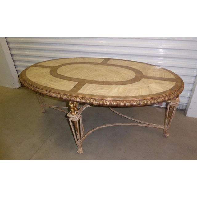 Carved Tables Philippines: Vintage La Barge Carved Wood & Gilt Griffin Oval Coffee