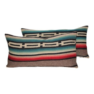 Pair of Mexican Serape Pillows