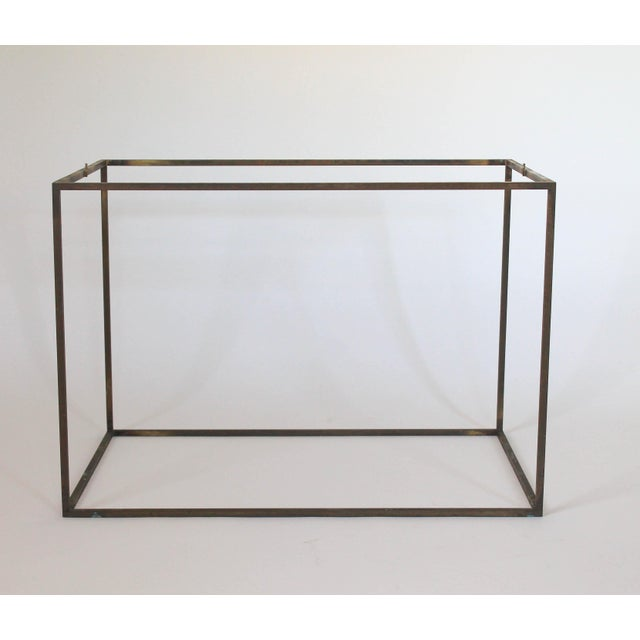 Rectangular Brass & Travertine Table - Image 8 of 11
