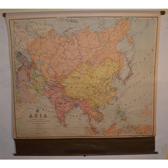Vintage Map of Asia - Image 3 of 8