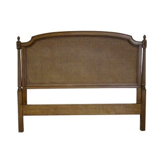 French Louis X Style Cane Back Queen or Full Size Headboard