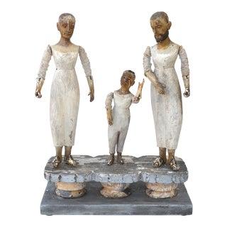 Spanish Colonial 18th Century Santos Trio