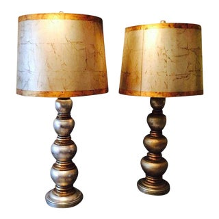 Vintage Silver & Gold Lamps