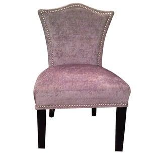 Chairs w/ Nailhead & Damask Print Velvet Set of 4