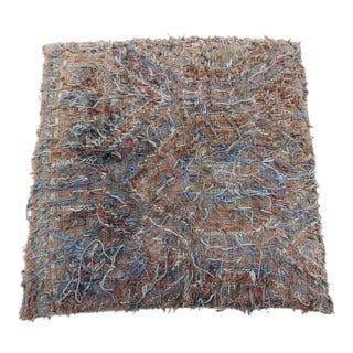 Vintage Turkish Patchwork Floor Rug Pillow & Dog Bed 36'' x 36''