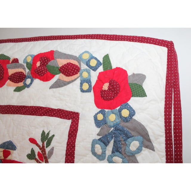 20th Century Hand Made Repro Applique Quilt - Image 5 of 8