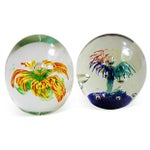 Image of 1960s Colorful Glass Paperweights - A Pair