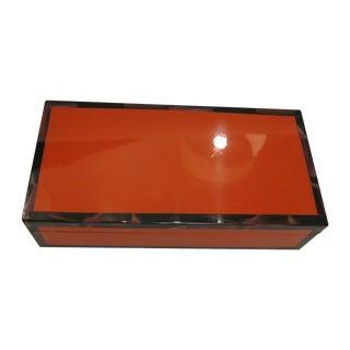 Orange Lacquered Box