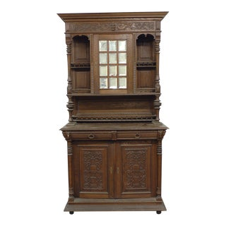 Tall Antique French Hunt Cabinet