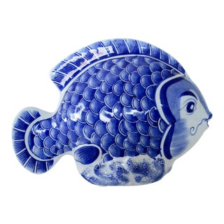 Ceramic Blue & White Fish
