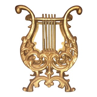 Gold-Leaf Harp Sheet Music Holder