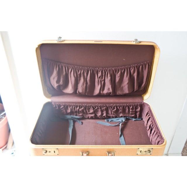 1950s Vintage Komfy Travel Suitcase Yellow Large - Image 4 of 6