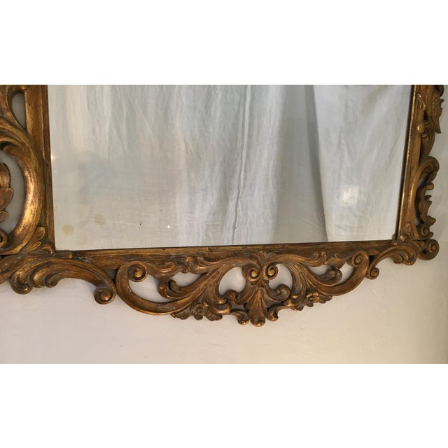 Gilt Finish Carved Italian Mirror - Image 6 of 11