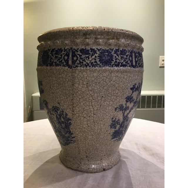 Planter With Blue Pastoral Scene - Image 5 of 10