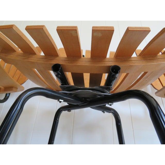 Arthur Umanoff Style Mid-Century Bar Stools - Set of 4 - Image 6 of 8