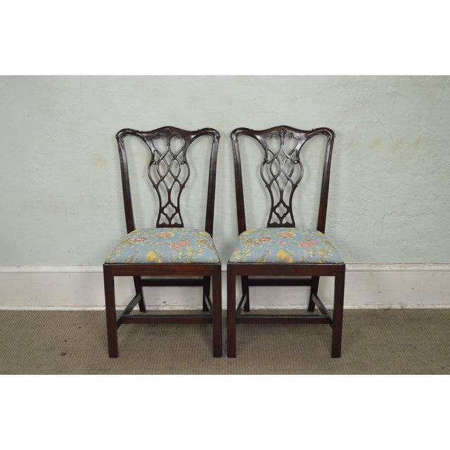 Councill Craftsman Solid Mahogany Chippendale Style Dining Chairs - Set of 8 - Image 5 of 10