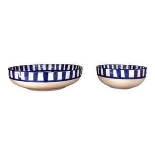 Dansk Mid-Century Modern Arabesque Set of 2 Bowls