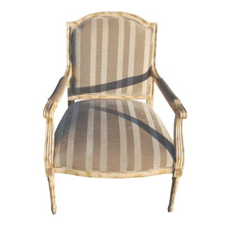 French Style Fluted Leg Accent Chair